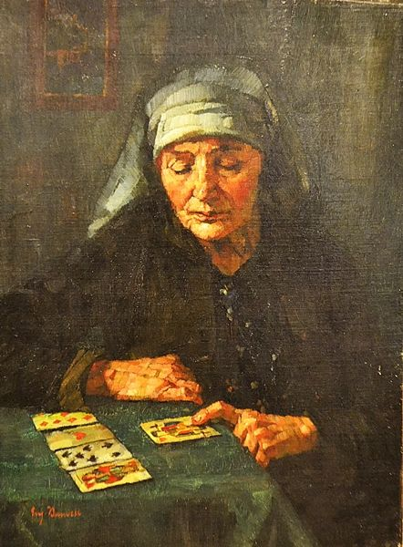 Bandell Eugenie (1863 - 1918) Ghicitoarea/ Fortune teller