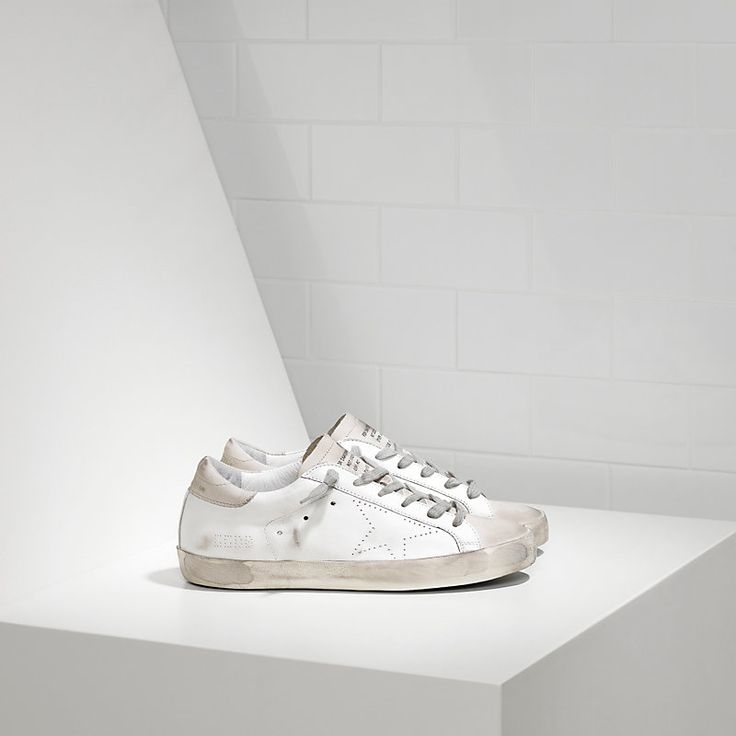 SUPER STAR sneakers in leather with openwork star - GCOD121.A5 - Golden Goose
