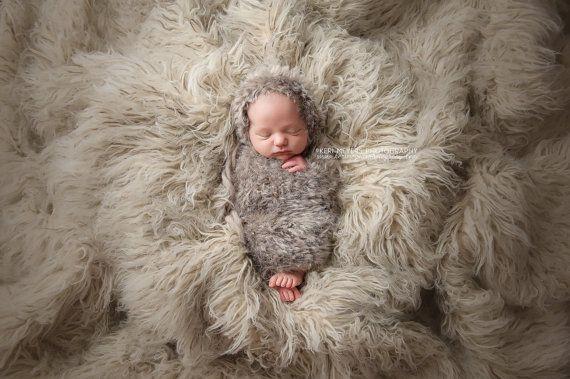RTS  eskimo  winnter bonnet  wool and fur  by LittleRaritiesStudio