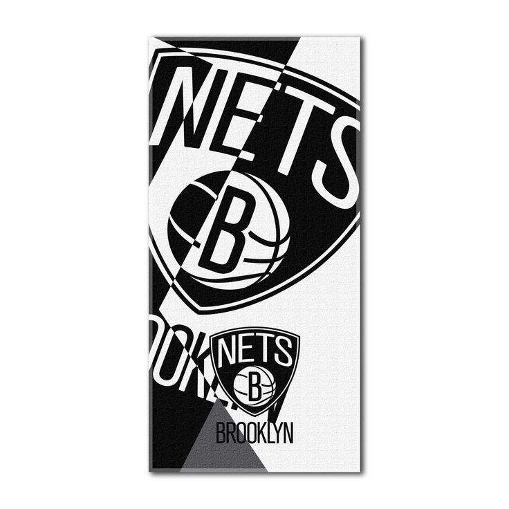 "Nets OFFICIAL National Basketball League, ""Puzzle"" 34""x 72"" Over-sized Beach Towel - by The Northwest Company"