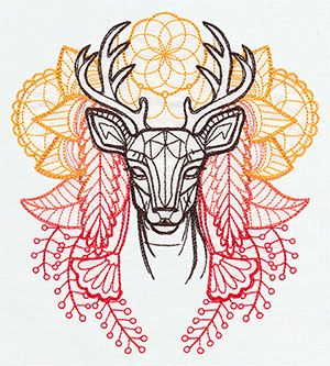 Anima - Deer | Urban Threads: Unique and Awesome Embroidery Designs One day, I WILL stitch this, I WILL stretch it over a frame and I WILL hang it on my animal collage wall by Buck.