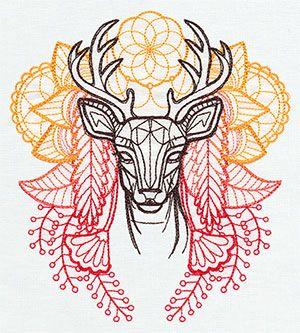 Anima - Deer design (UT6801) from UrbanThreads.com