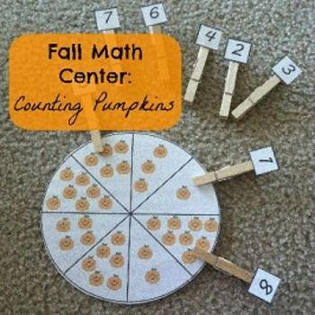 Fall Math Center: Counting Pumpkins