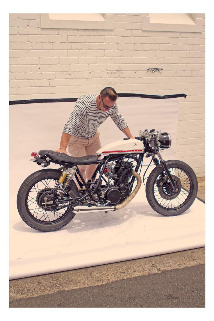 Car amp bike fanatics suzuki m50 bobber bike - A Baby Yamaha Cafe Racer