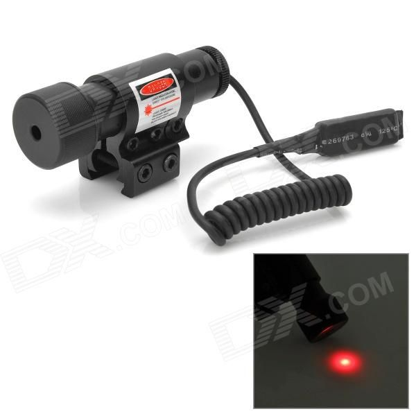 5mW Aluminum Alloy Red Dot Laser Scope w/ 12~20mm Rail Mount / Dual Switches - Black (2 x AG13) Price: $15.90