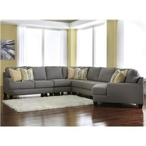 Chamberly alloy modern 5 piece sectional sofa with right for Affordable furniture tempe az