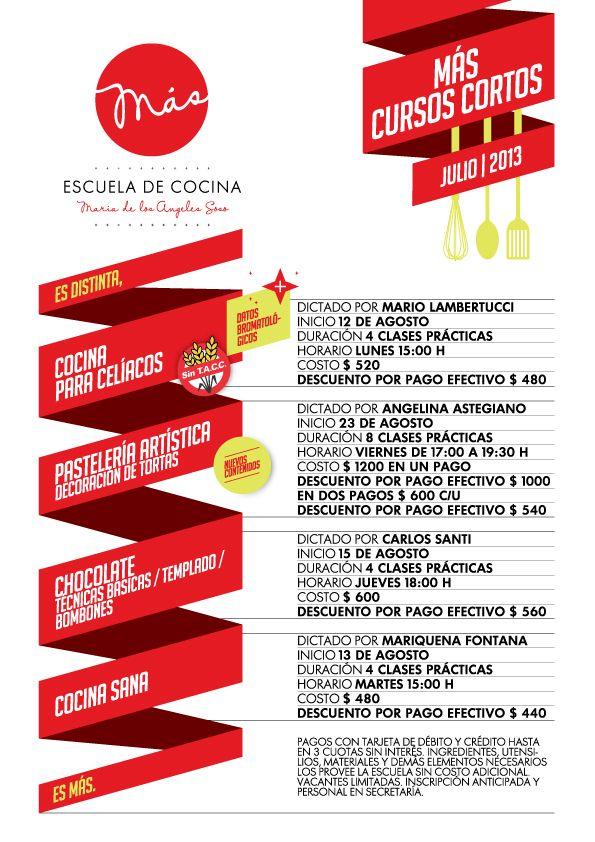CURSOS CORTOS DE COCINA & PASTELERÍA | AGOSTO 2013