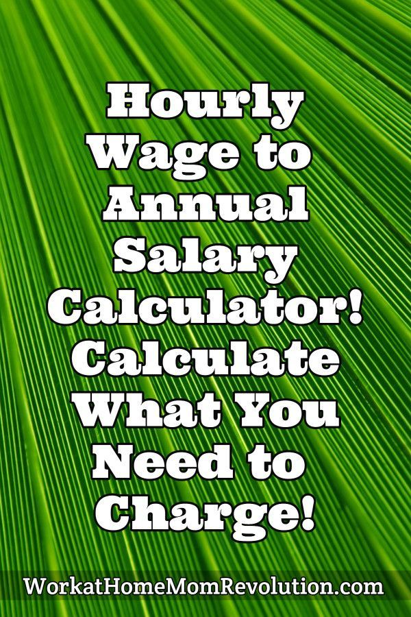 Hourly Wage to Annual Salary Calculator (With images
