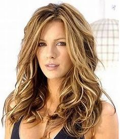 warm blonde highlights on dark brown hair - Google Search