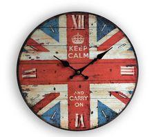 34 cm reloj de pared de madera estilo rústico vendimia para el hogar decoración…