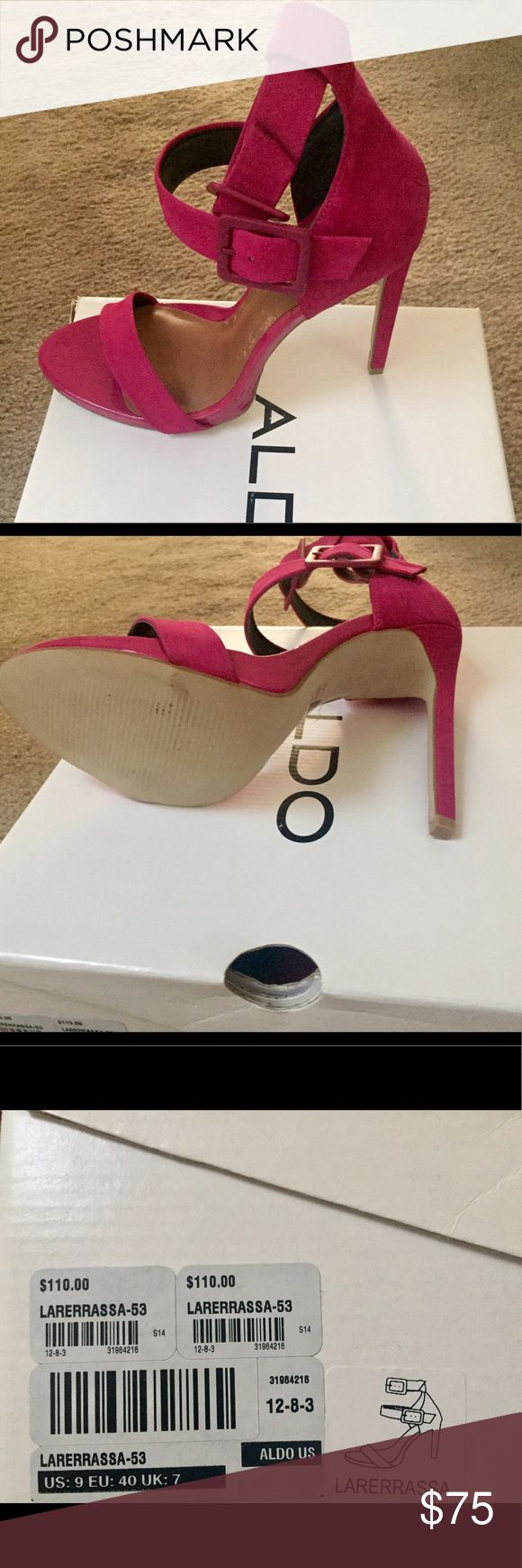 Pink strappy aldo heels Never warn cute pink heels Aldo Shoes Heels