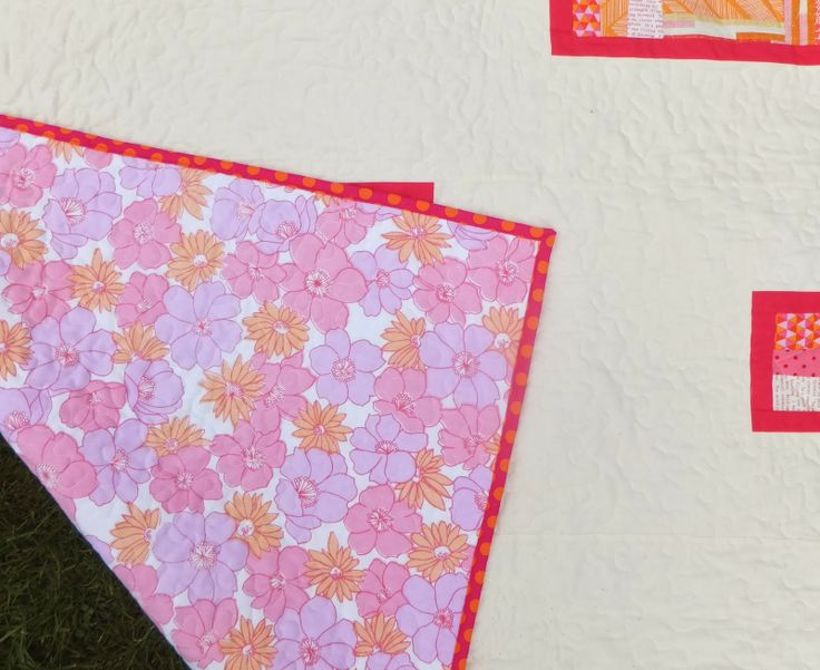 Use vintage sheet as a backing for a quilt - a fast and economical backing!
