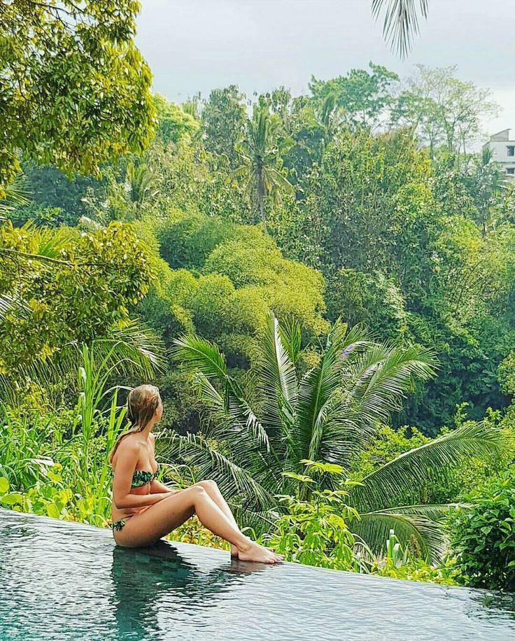 Can't believe it! Is it the real paradise? I really can't stop staring at this beautiful set  .. ..  by @rawaffel #travel #infinitypool #ubudvacation #Travelgram #ubudresort #swimwear #swimsuits #TripAdvisorBali #puriganggaresort #beautifulhotel #woderfulplace #sebatuvillageadventure #AHomeinALivingCulture