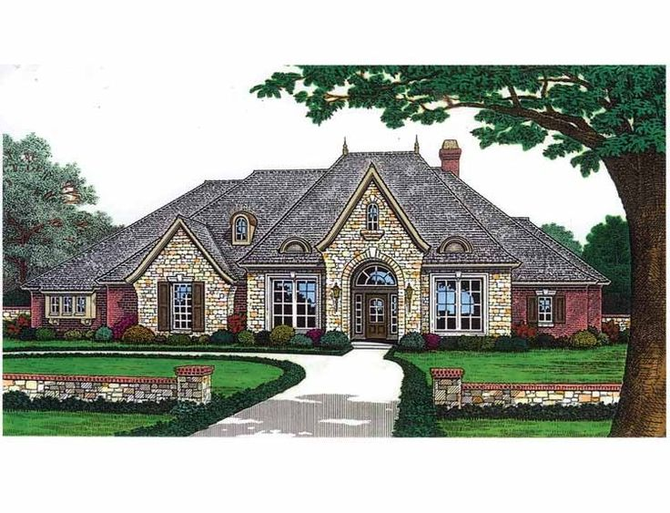 french country style house plans 2927 square foot home 1 story 4 bedroom and 3 bath 3 garage stalls by monster house plans plan nice floor plan