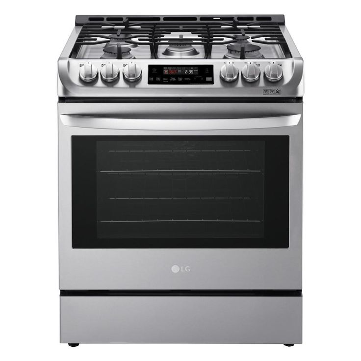 LG Electronics 6.3 cu. ft. Single Gas Slide-In Range in Stainless Steel with Probake Convection-LSG4511ST - The Home Depot