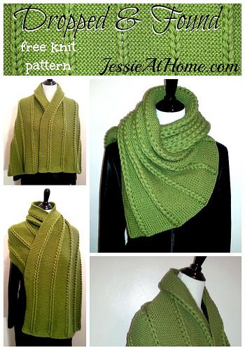 Dropped and Found Wrap ~ Free Knit Pattern | Jessie At Home | G-Ma Ellen's Hands – Adventures in Crochet and Knit