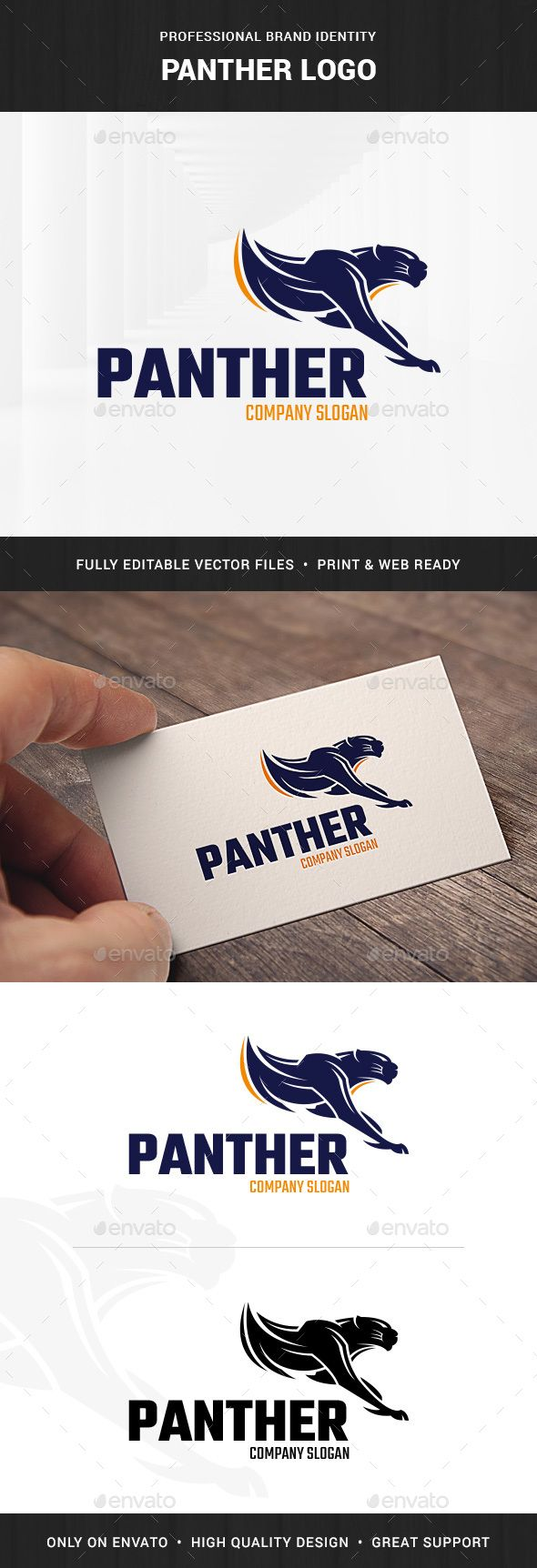 Panther Logo Template — Photoshop PSD #agency #PSD logo • Available here → https://graphicriver.net/item/panther-logo-template/15684623?ref=pxcr