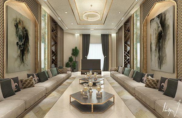 Islamic Modern Majlis In Doha Qatar On Behance Living Room Design Modern Luxury Living Room Design Sitting Room Design