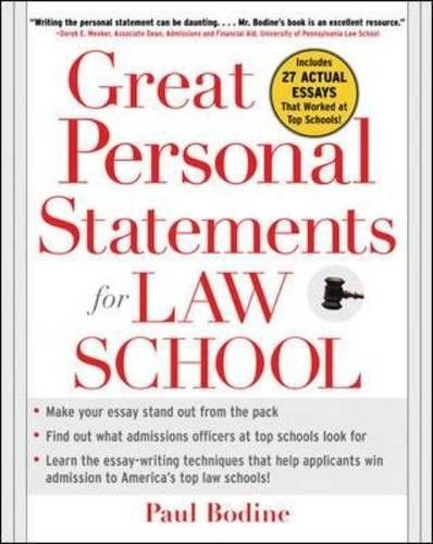 Great Personal Statements for Law School Law school and Products - law school personal statement