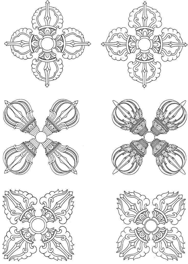 Энциклопедия тибетских символов и орнаментов стр.222 | Мастер татуировки