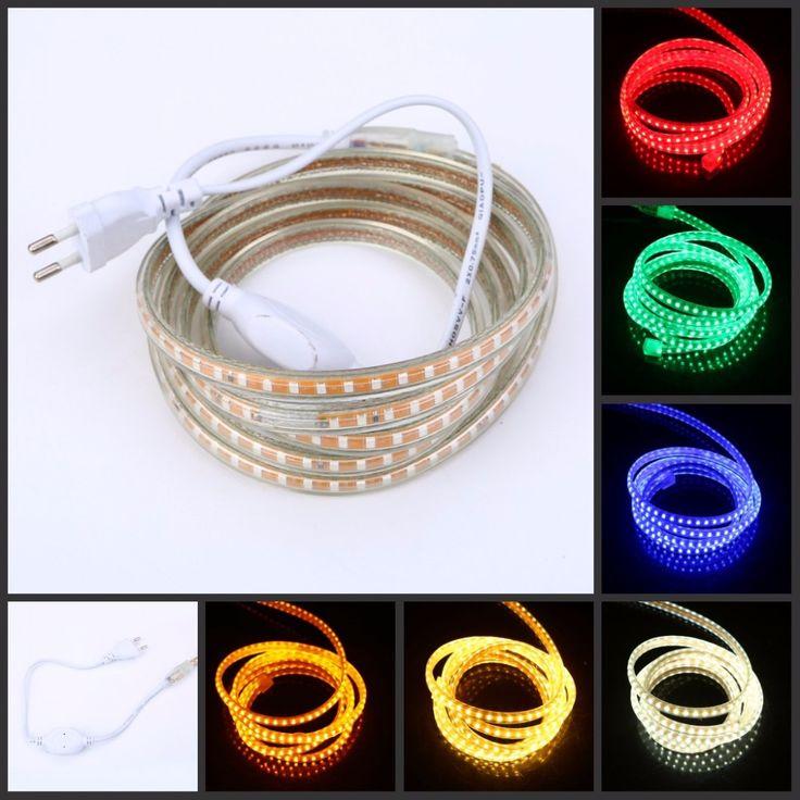 220 V led bande 2835 120led/M bande Flexible rope light Étanche Froid chaud blanc 1 m 2 m 5 m 10 m 15 m 20 m 25 m 50 m 100 m UE puissance plug