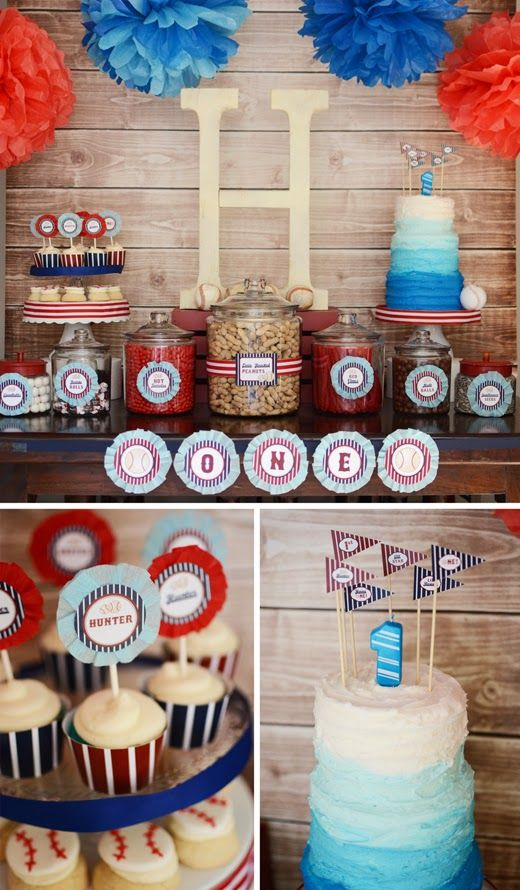 Baseball party baseball invite baseball printables home one party diy little slugger all star boy 1st birthday rounding first dug out party