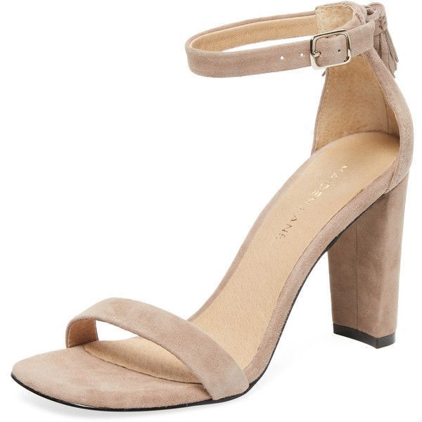 Maiden Lane Women's Suede Tassel Sandal - Cream/Tan - Size 11 ($79) ❤ liked on Polyvore featuring shoes, sandals, tan high heel sandals, ankle strap platform sandals, cream sandals, high heel sandals and high heel platform sandals #tananklestrapsheels #tansandalsheels