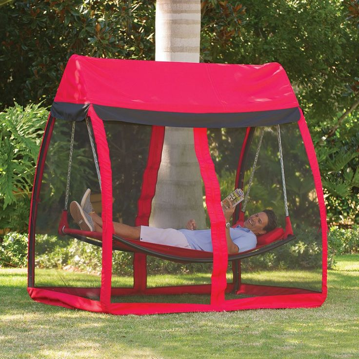 I want one for camping!! The Mosquito Thwarting Hammock - Hammacher Schlemmer
