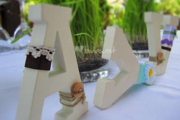 Decorazioni di nozze con lettere