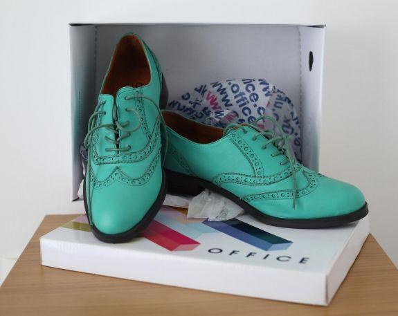 Sapatos Femininos Oxford Novos Importados Verde (Cerceta) Office (Reino Unido) | Loja Café Brechó https://www.lojacafebrecho.com.br/produto/sapatos-femininos-oxford-novos-importados-verde-cerceta-office-reino-unido