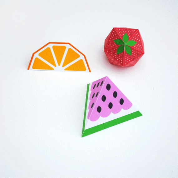 Watermelon bunting (+ template) // 3D fruit! | Mini-eco