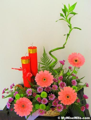 chinese flower arrangements | Creative Floral Arrangement - Part4 (Festive Style - Chinese New Year ...