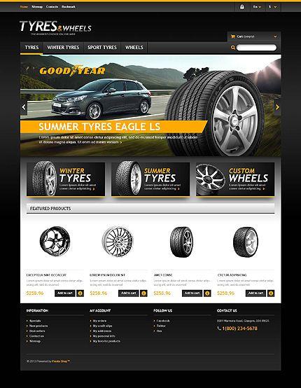 Website Template #webdesign #prestashop #wheels