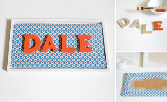 fabric name for baby's room | Framed name sign by Disney Baby. You could really match this to your ...