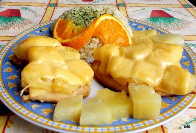 Ínyenc csirkesült ananásszal