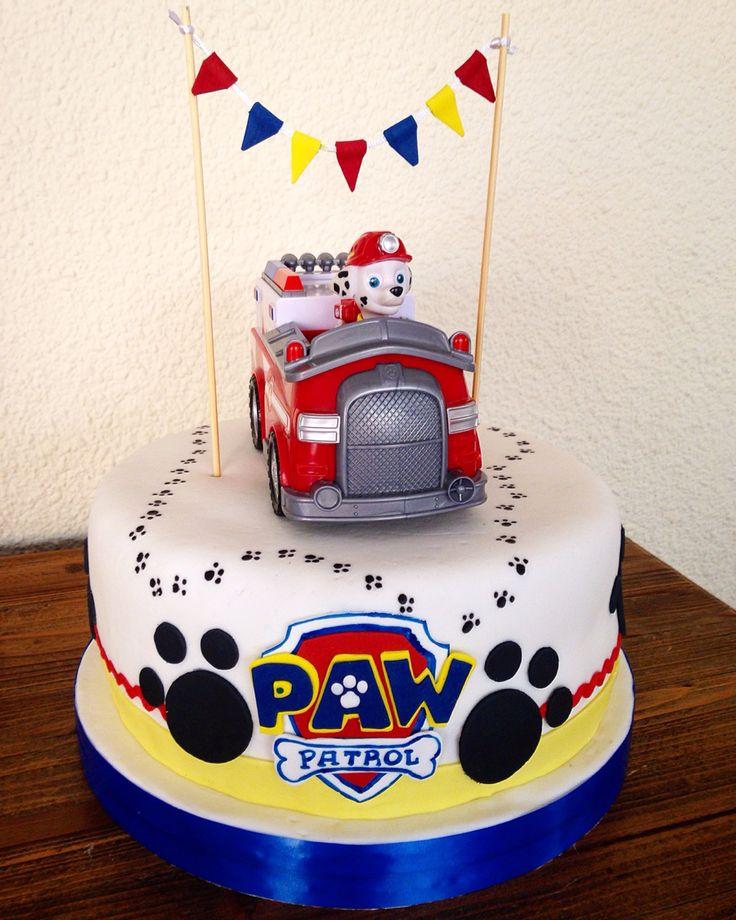 Pastel de Paw Patrol. Perfecto para una fiesta temática.#PatrullaCanina #torta