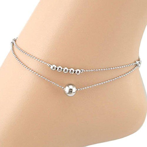 SusenstoneDouble-strand Smooth Women Chain Anklet Bracelet Sandal Beach Foot Jewelry.More info for anklets;silver anklets designs with price;stone anklets;kundan anklets;payal anklet could be found at the image url.(This is an Amazon affiliate link and I receive a commission for the sales)