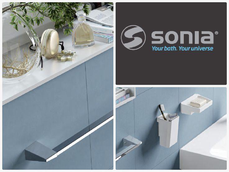 #SONIA your bath, your universe. Accesorios para cuarto de baño cromados. #LíneaS2