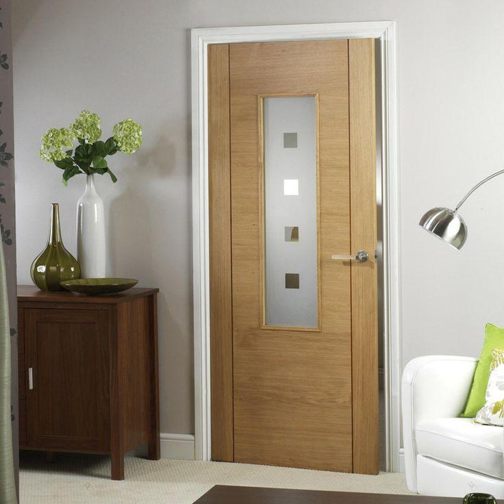 Coruna Oak Glazed Internal Door