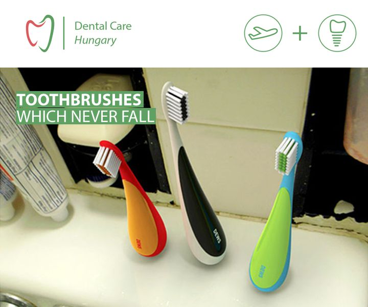 never fall toothbrushes. great idea