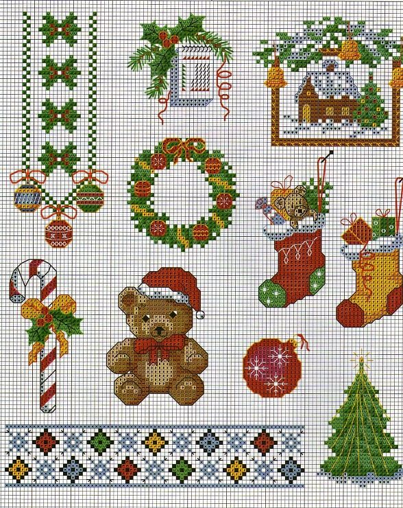 various x stitch Christmas patterns