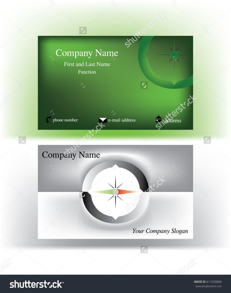 Bold #business #cards with abstract #O #letter logo resembling a #compass