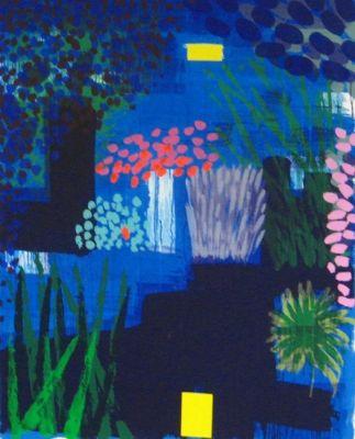 Bruce McLean, monoprint 122 x 152cm