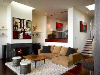 Elegant Split Level Living Room