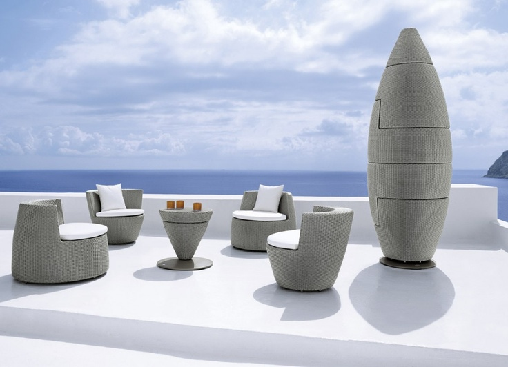 Dedon Stacking Obelisk Chairs