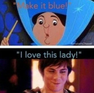 The two people in the whole world that are completely obsessed with blue! Merryweather and Percy, I LOVE IT!!!!!