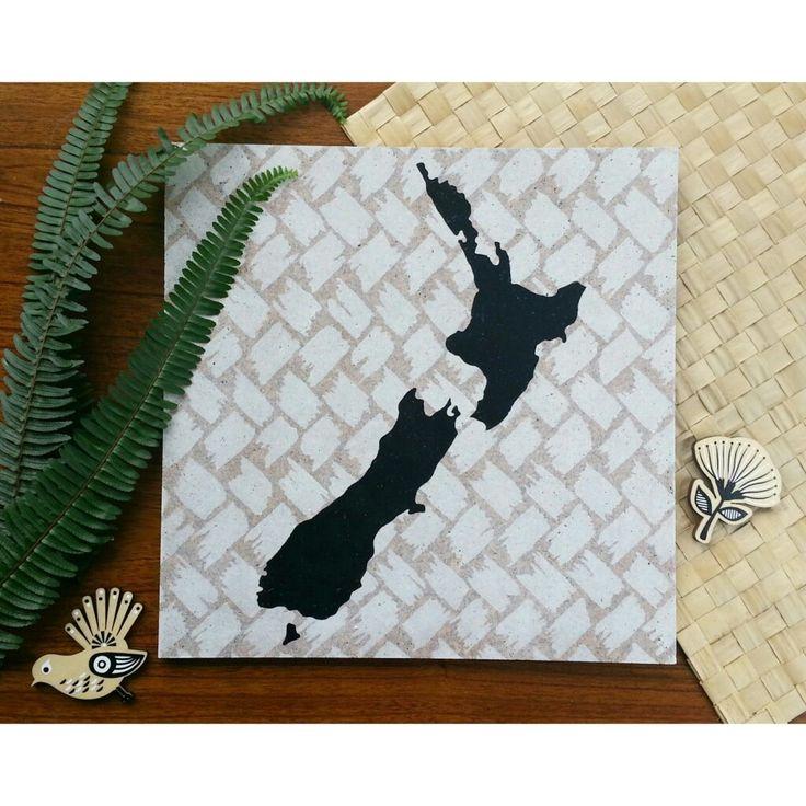 New Zealand map design cork pinboard