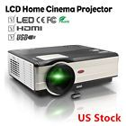 HD LCD Home Cinema Projector 1080p Multimedia Movie Game Built-in Speakers HDMI