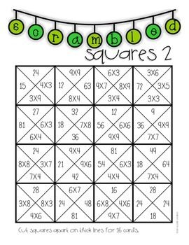 Multiplication Puzzles for Practice