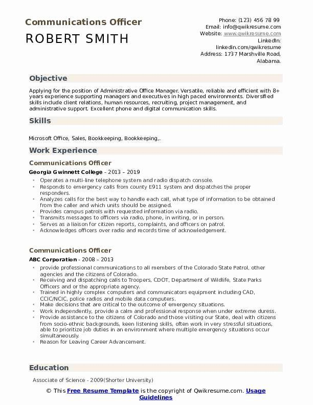 Examples Of Cvs From Warrant Officer Fresh Munications Ficer Resume Samples Best Resume Example Ideas Pr In 2020 Resume Skills Good Resume Examples Resume Examples